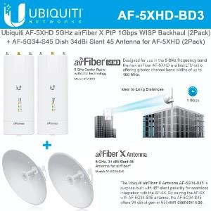 23dBi,Slan t 45 Ubiquiti Networks AF-5G23-S45-US 5GHz airfiber dish