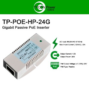 Tycon Systems TP-POE-18 18W POE Power Source with US Power Cord 18V