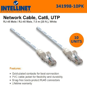 50ft INTELLINET 319973 CAT-5E UTP Patch Cable Gray