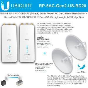 NETWORKS RD-5G30-LW 2PK 5GHZ ROCKET DISH 30DBI UBIQUITI